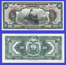 Ecuador 50 sucres 1928 UNC - Reproduction