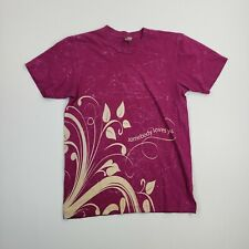 American Apparel Women's Solid Pink Casual Short Sleeve Shirt Ladies size Small