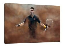 Novak Djokovic 30x20 Inch Canvas - Tennis Framed Picture Art Print
