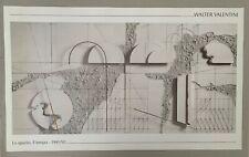 WALTER VALENTINI, 'LO SPAZIO, IL TEMPO, 1991' RARE AUTHENTIC 1994 ART PRINT