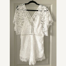 New With Tag Lioness White Lace Beach Summer Romper SIZE Medium