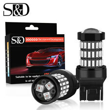 2X 7443 SRCK / CK 4014 LED 57SMD Super Red Car Brake Turn signal Tail Stop Bulbs