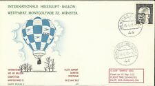 WEST GERMANY 1972 AIR BALOON COMPETITION COVER USED