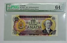 Bank of Canada 1971 $10 Replacement Note - BC-49cA - *DY - PMG Choice UNC 64 EPQ
