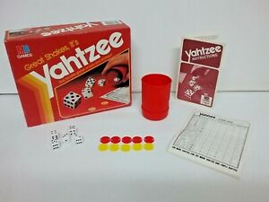 Yahtzee The Game of Luck and Strategy Dice Game Milton Bradley 1982