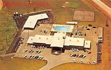 Troy Ohio 1960s Postcard Aerial View Trojan Motor Inn