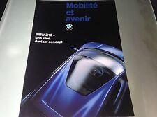 Catalogue Katalog Prospekt BMW CONCEPT CAR Z13 ANNEE 1993 15 pages
