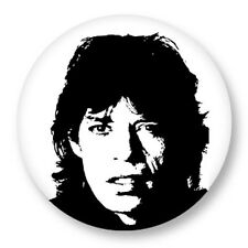 "Pin Button Badge Ø25mm 1"" Mick Jagger The Rolling Stones Les Stones Rock"