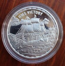 HMS VICTORY 2005 1oz $25 .999 FINE SILVER PROOF SOLOMON ISLANDS