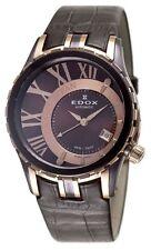 Edox 37008-357 BRR-BRIR Grand Ocean Brown Dial Leather AUTOMATIC Watch
