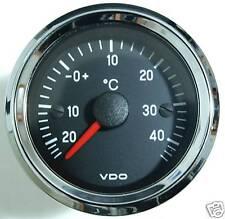 VDO Chrom International Außenthermometer Aussentemperatur Anzeige 52mm