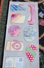 Creative Memories Gazebo Jumbo GL Stickers *Travel* Ship~Luggage~Camera~NIP/NLA