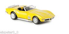 Corvette C3 Cabrio, gelb, TD, H0 Auto Modell 1:87, Brekina 19981