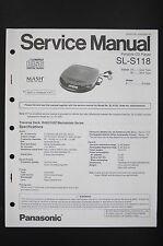 Panasonic SL-S118 Original Baladeur Manuel de Service/Amplificateur/Diagram o90