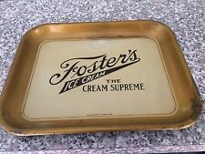 VINTAGE METAL TRAY FOR VENDOR FOSTER'S ICE CREAM