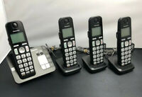 Panasonic KX-TGE430 DECT 6.0 Cordless Phone Answer Machine Base with 3 Handsets
