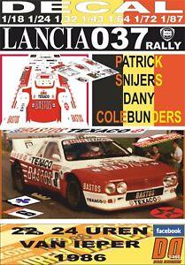 DECAL LANCIA 037 RALLY P.SNIJERS 24 UREN VAN IEPER 1986 2nd (06)