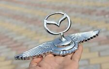Chrome Metal Car Front Hood Ornament Sticker Badge Decal Emblem for Mazda 2 3 6