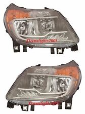 DODGE RAM PROMASTER 2014-2016 PAIR SET HEADLIGHT HEAD LAMPS LIGHTS W/O DRL