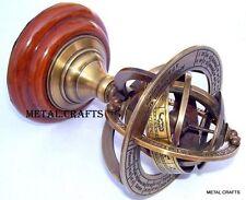 Antique Brass Armillary Sphere Globe Numeral Zodiac Sign & Garden Sundial Gifts