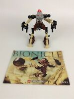 Lego Bionicle 2001 Building Set 8531 Pohatu 99% Complete with Instructions