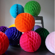 12 Mixed Sizes honeycomb balls decoration Tissue Paper Pompoms Wedding Party