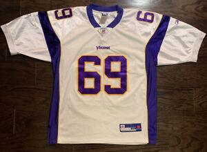 Jared Allen #69 MINNESOTA VIKINGS NFL Football JERSEY Mens 50 White Reebok Sewn