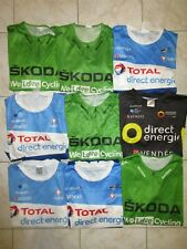 Lot 9 maillot cycliste TOUR DE FRANCE Vert Skoda TOTAL DIRECT énergie shirt M