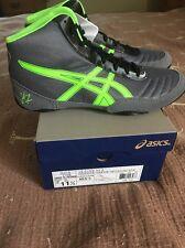 Men's Size 11.5 Granite/Green/Black ASICS Wrestling Shoes NIB