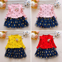 Toddler Kids Baby Girl Princess Floral Tulle Party TuTu Dress Clothes Outfits