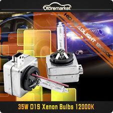 2 New 35W D1S 12000K OEM HID Xenon Headlight Replacement Light Bulbs Blue Bulb