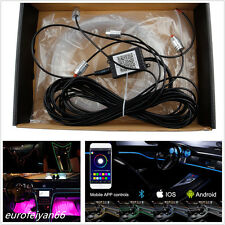 DC 12v 6m Car SUV RGB LED Neon El Strip Light Atmosphere Lamp Phone App Control