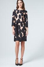 Windsor Kleid aus Seidentwill, mit großen Punkten, Größe 44