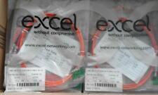 JOBLOT 6 QTY.. EXCEL OM2 50/125 Fibre Optic ST-ST Duplex patch Lead 2metre