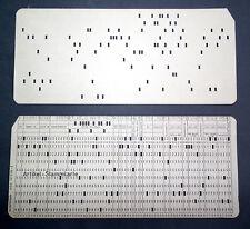 Orig. alte IBM Computer Lochkarte vor 1969 GELOCHT – witzig auch als Grußkarte