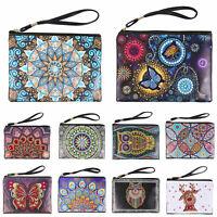DIY Mandala Special Shaped Diamond Painting Wristlet Clutch Wallet Purse Handbag