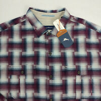 $140 Tommy Bahama Boogie Plaid Flannel Shirt Size XLT Tall