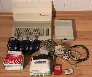 Commodore c64, Floppy, 3 Joysticks und über 130 Disketten