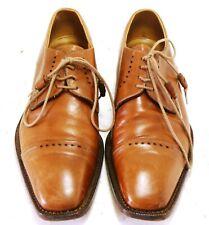 Fratelli Borgioli Italy brown leather men's shoes UK 9.5 EU 43-44 USA 10 #34770