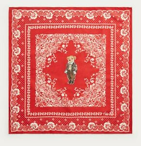 Polo Ralph Lauren Men's Polo Bear Cotton Bandana, Red Color, One Size