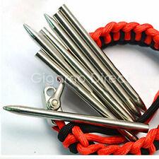 "3"" (75mm) 550 Paracord Needle Steel Easy Weaving Lacing Survival Bracelets UK"