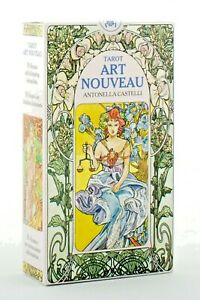 Tarot Art Nouveau Of Antonella Castelli 78 Cards Editions LO SCARABEO