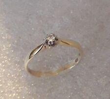 Brillantring Goldring Ring mit Brillant Solitär aus 585 Gold Diamant