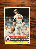 1979 Topps #340 Jim Palmer Baseball Card Baltimore Orioles AL All Star Raw