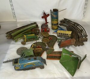 Vintage Tinplate Job Lot Mettoy + Others - Incomplete / Damaged Spares Repairs