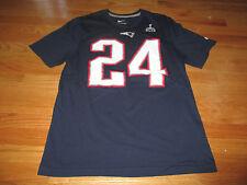 Team NFL Apparel DARELLE REVIS No. 24 NEW ENGLAND PATRIOTS (MED) T-Shirt Jersey