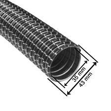 Staubsaugerschlauch 35 mm Gewebeschlauch mit Stahlfeder METERWARE - Schwarz