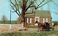 Postcard Amishmen in Carriage Pennsylvania
