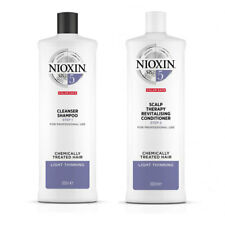 Nioxin System 5 Cleanser Shampoo & Conditioner 1000ml DUO Chemically Treated