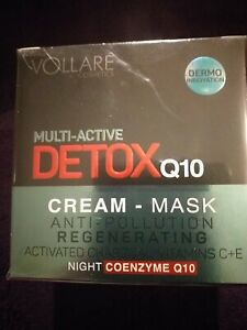 VOLLARE MULTI- ACTIVE DETOX Q10 NIGHT CREAM 50ML BNIP R.R.P.£49.99
